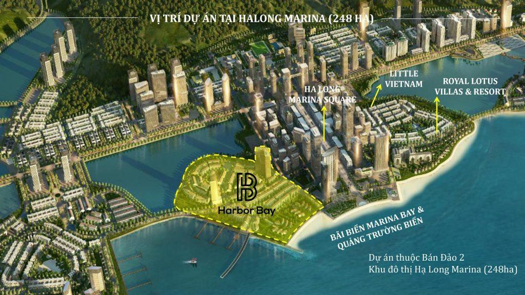Vị trí của dự án Harbor Bay Hạ Long.