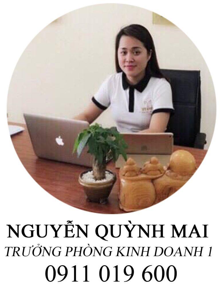 Nguyễn Quỳnh Mai. Trưởng phòng kinh doanh 01