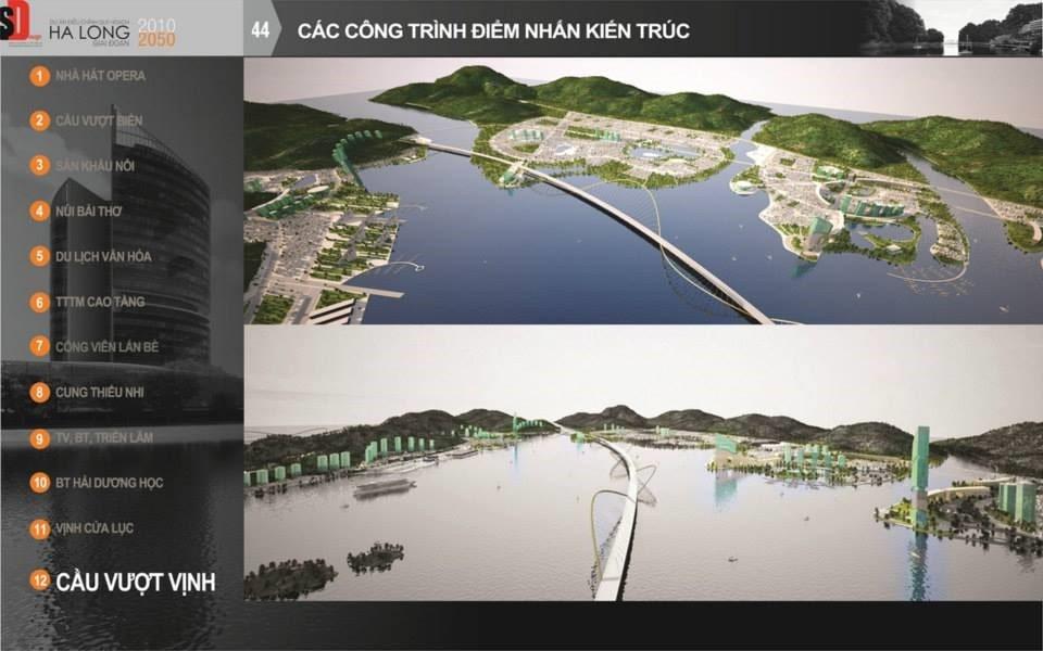 Siêu dự án cầu vượt biển trên Vịnh Cửa Lục - Thành phố Hạ Long.
