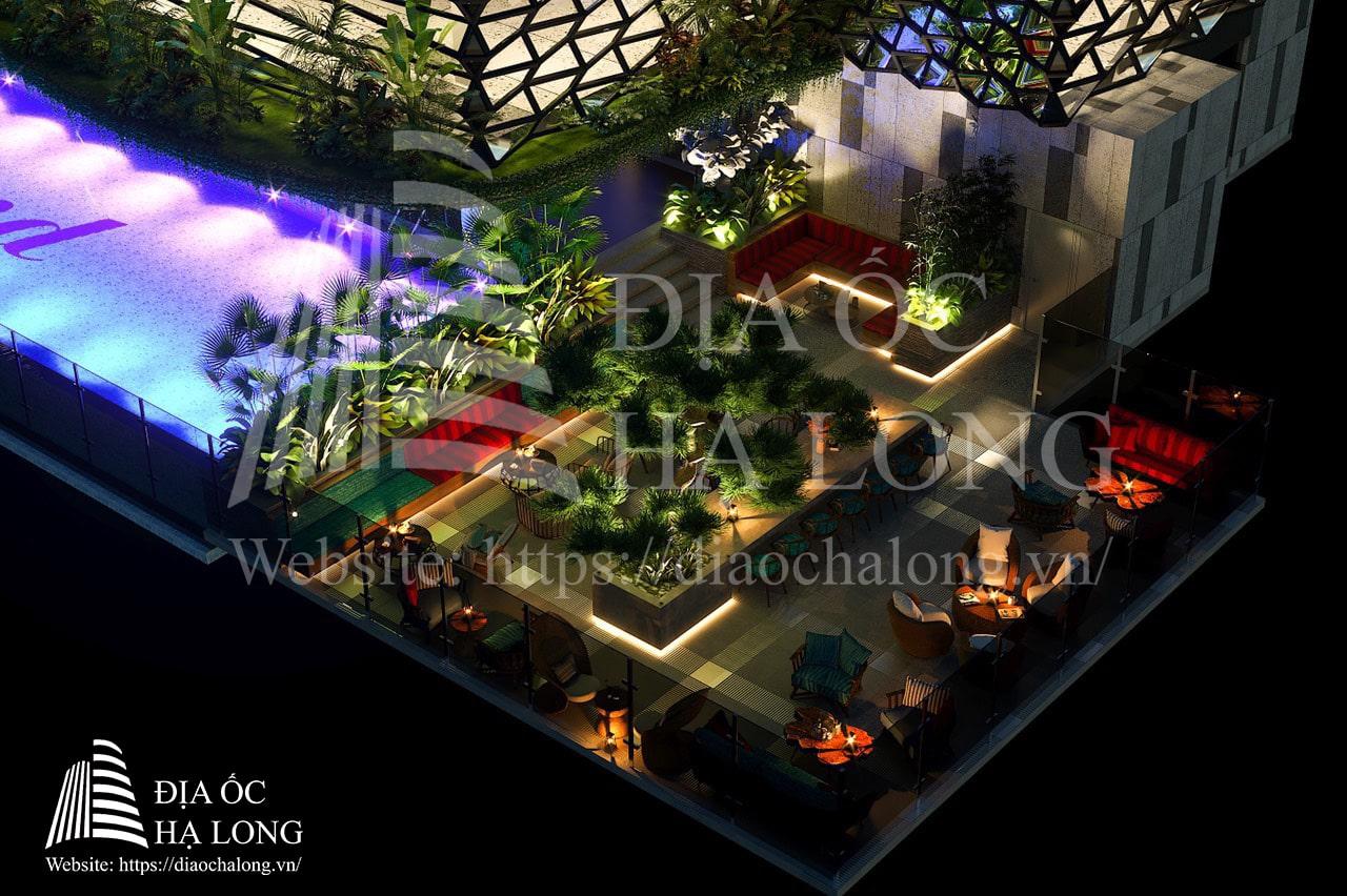 Green Diamond 36 Sky Lounge - Sky bar đẹp và hiện đại bậc nhất Hạ Long.