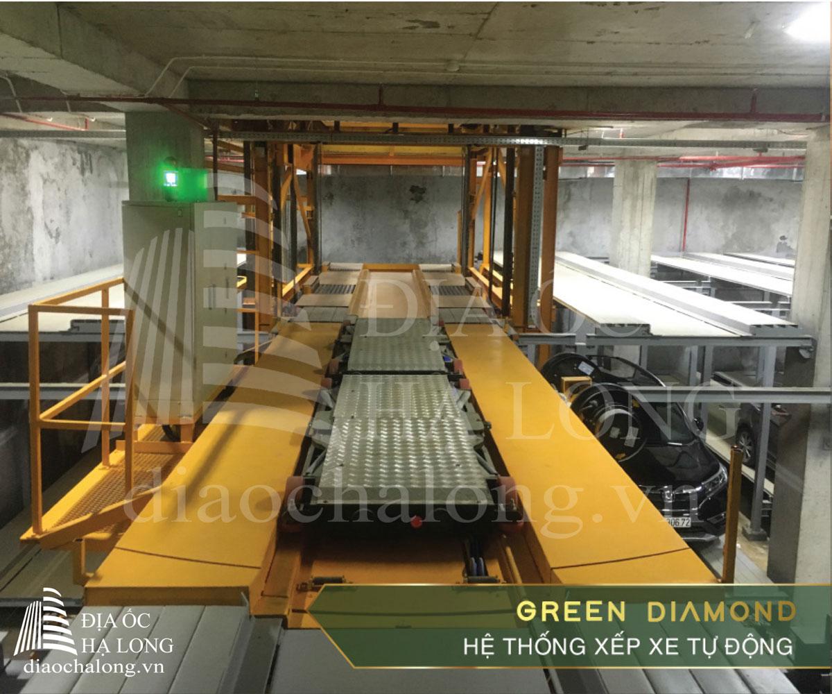 Hệ thống xếp xe thông minh tại dự án Green Diamond Hạ Long