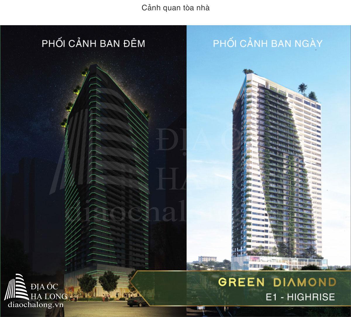 Cảnh quan tòa nhà Green Diamond Hạ Long