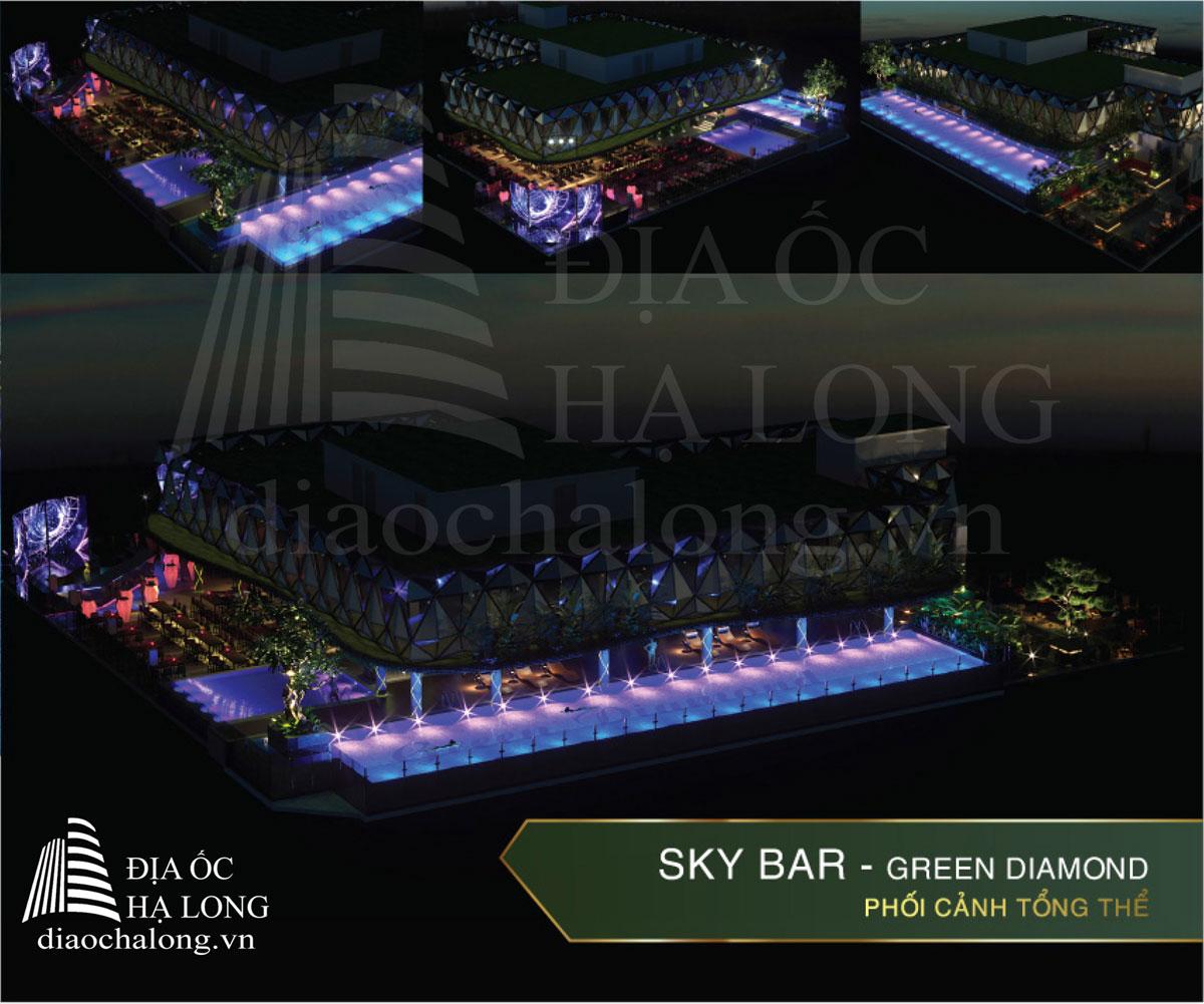 Phối cảnh tổng thể Skybar - Green Diamond Hạ Long